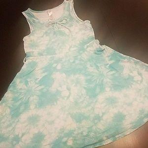 3/$25 Justice Blue Tie Dye Swing Dress sz 8